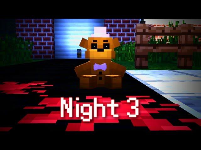 MINE Nights at Freddys FUN PARK | Night 3 | FNAF Minecraft Roleplay