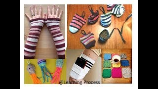 8 Different ways to reuse or recycle Old socks | Learning Process