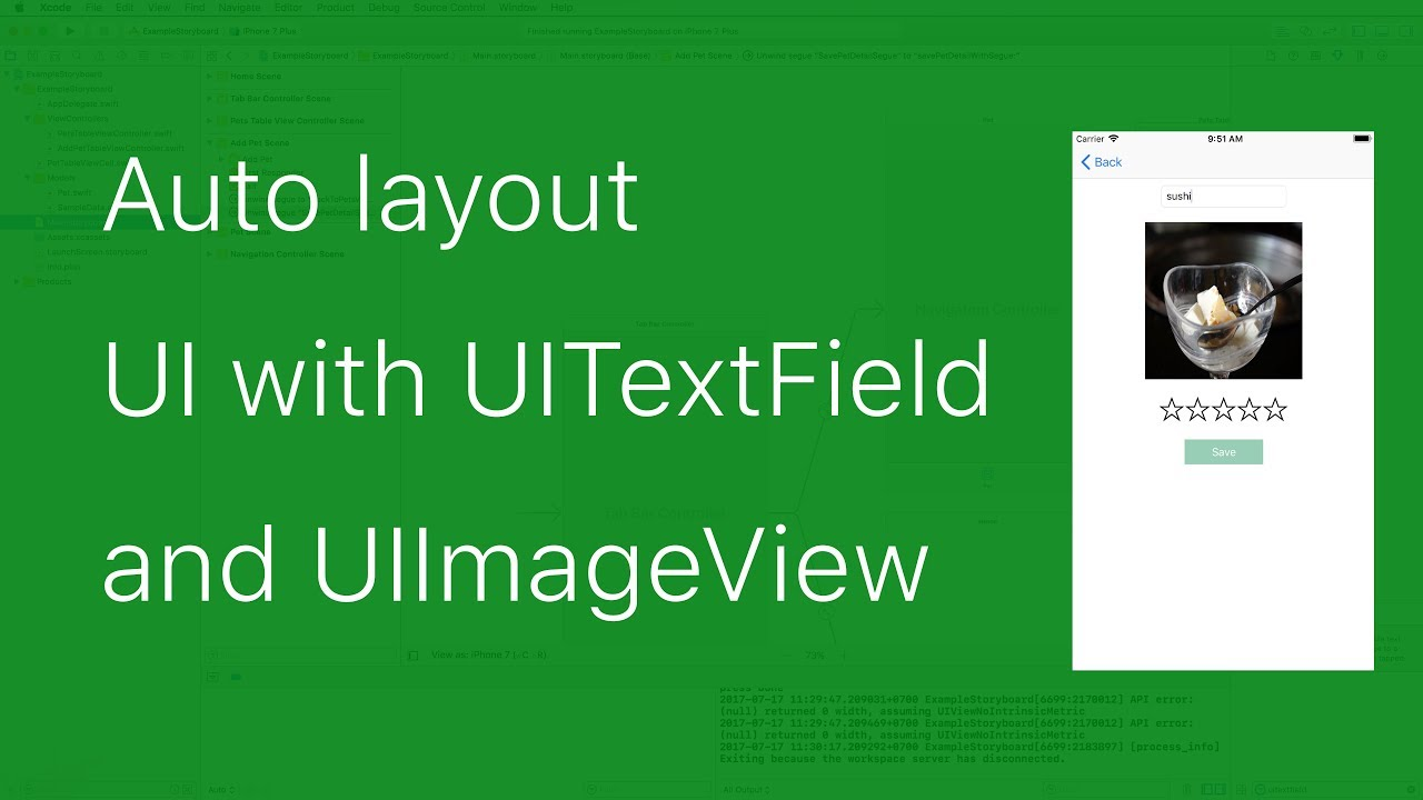 27-UITableView#3 Auto layout UI with UIImageView and UITextField with  Storyboard