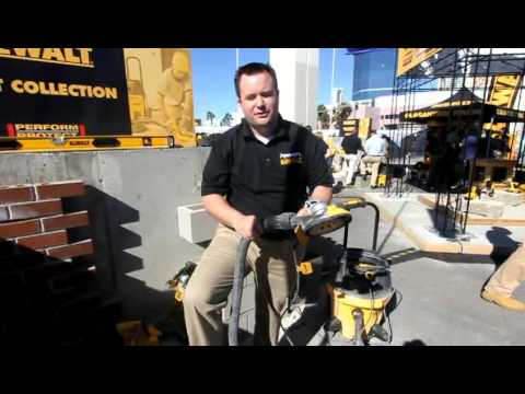 DeWalt grinders with dust collection shrouds
