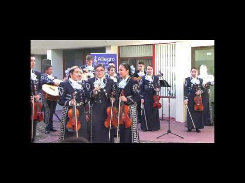 Mariachi Aztlan de Pueblo High at Allegro School of Music Ribbon Cutting