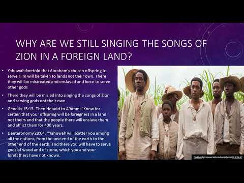 Why are we still Singing the songs of Zion in foreign land?