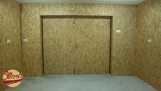 Insulating a Garage, Adding Outlets, and Installing OSB Panels /Ollari's New Workshop Part 2.