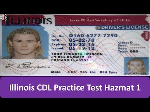 Illinois CDL Practice Test Hazmat 1