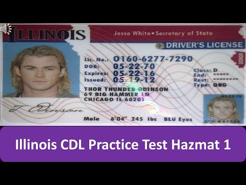 Illinois CDL Practice Test Hazmat 1