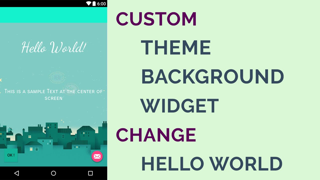 How to customize android theme background android studio 212 how to customize android theme background android studio 212 updated youtube voltagebd Images