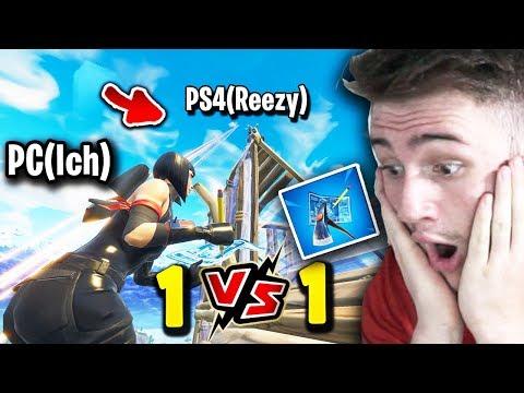 PC VS PS4(Reezy) Baubattle! Was Ist Schneller? - Petrit Vs.Youtuber - Fortnite Battle Royale