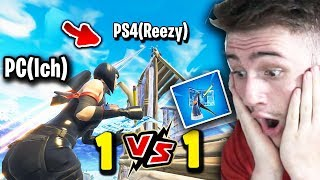 PC VS PS4(Reezy) Baubattle! Was ist schneller? - Petrit vs.Youtuber - Fortnite Battle Royale
