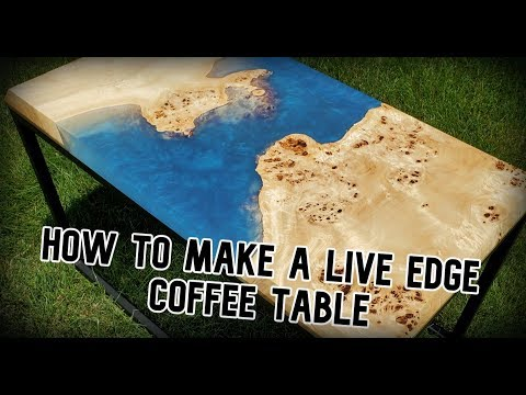 Making a Mappa burl Epoxy River Coffee Table FROM START TO FINISH