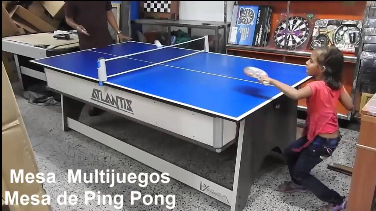 Mesa De Juegos 4 En 1  Billar  Pin Pong  Hockey