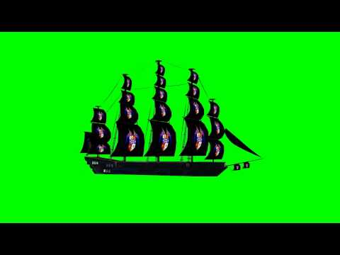 "Sail-Ship -various movements- ""free Chroma Key Effects"""