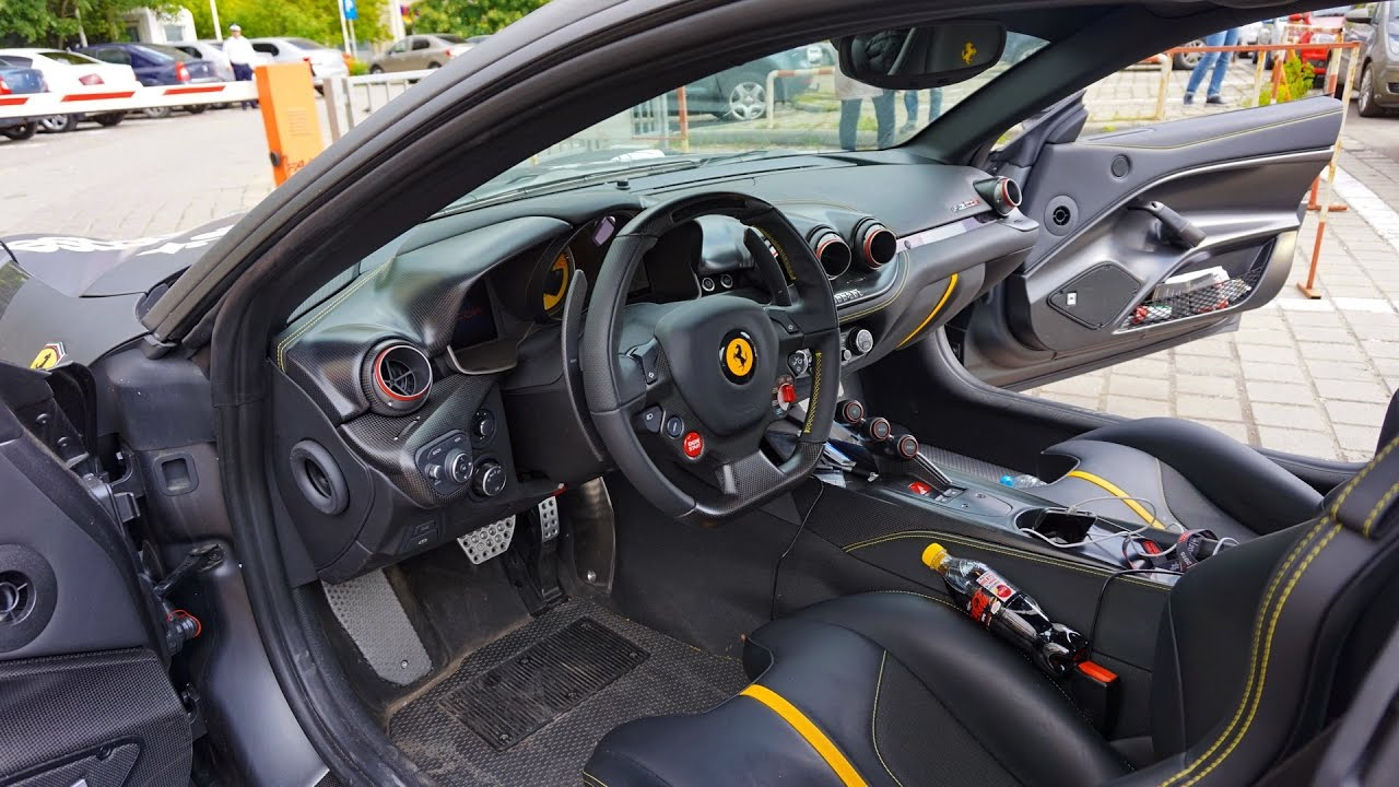 ferrari f12tdf interior exterior loud revs and acceleration sounds youtube. Black Bedroom Furniture Sets. Home Design Ideas