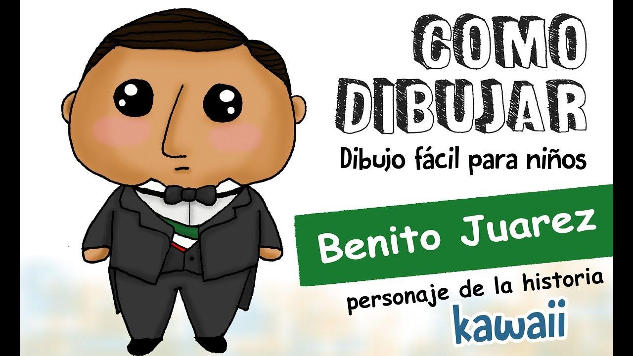 Como Dibujar Benito Juárez Kawaii / Dibujo Fácil