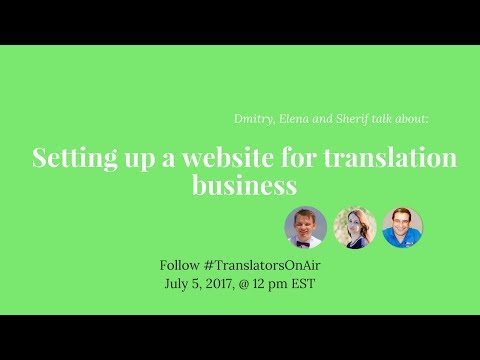 #TranslatorsOnAir Setting up a website for translation business feat  @Sherifabuzid