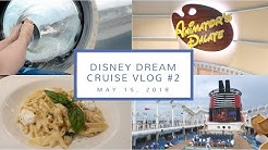 Disney Cruise Vlog Day 2 | Beauty & The Beast, Animator's Palate, + the Aquaduck  | May 15, 2018