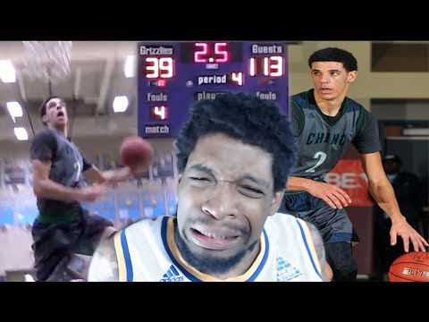 OMG 360!? LONZO HAS MID GAME DUNK CONTEST! BALL BROTHERS 74 POINT BLOWOUT REACTION!