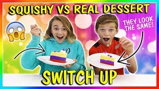 SQUISHY VS REAL DESSERT CHALLENGE | We Are The Davises