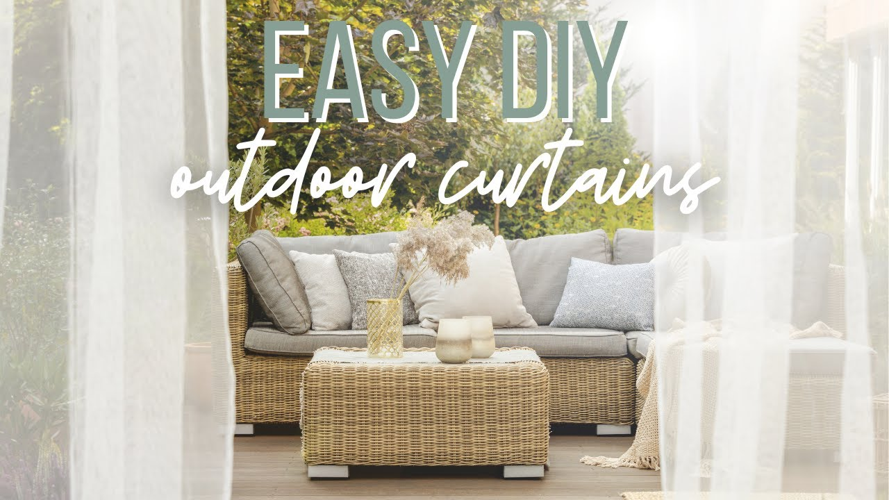 Diy Outdoor Curtains Catherine Arensberg Youtube