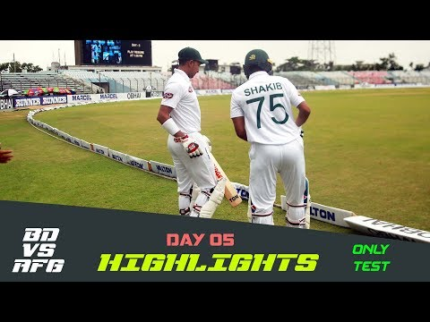 Highlights | Bangladesh vs Afghanistan | Day 05 | Test Series | Afghanistan tour of Bangladesh 2019
