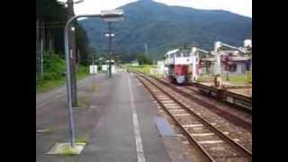 北上線普通列車・和賀仙人駅 発車