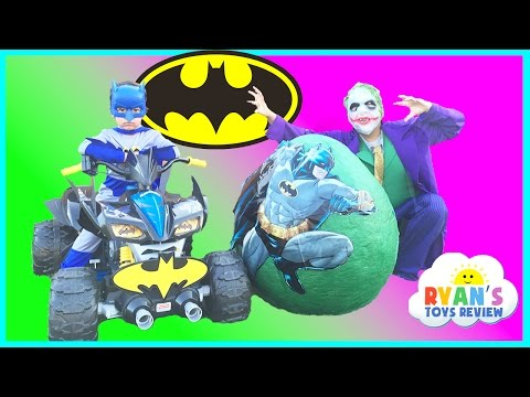 SUPER GIANT BATMAN SURPRISE EGG TOYS OPENING Batman V Joker Dc Superheroes Imaginext Toys Kids Video