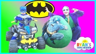 SUPER GIANT BATMAN SURPRISE EGG TOYS OPENING