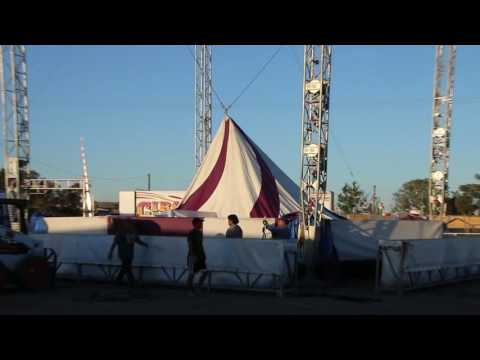 Raising The Circus Big Top