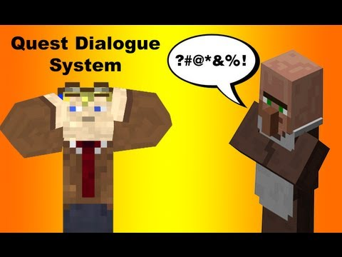 Quest Dialogue and reputation in vanilla minecraft. [Long build it Video]. Quest system part 1