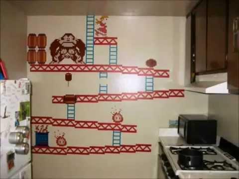 Adesivi Da Parete (Wall Stickers) Donkey Kong 8bit