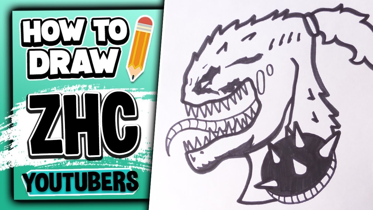 How To Draw ZHC \u2013 Youtubers Drawings // Lexton Art