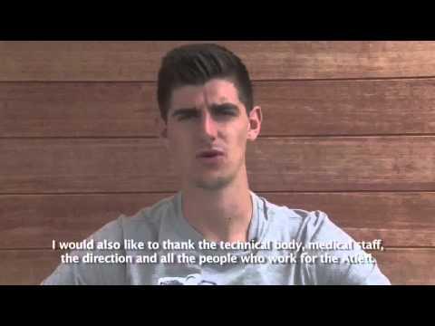 Despedida de Courtois del Atletico de Madrid