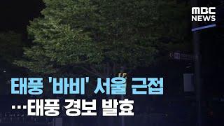 태풍 '바비' 서울 근접…태풍 경보 발효…