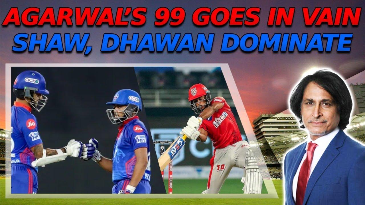 Agarwal's 99 goes in vain | Shaw, Dhawan dominate