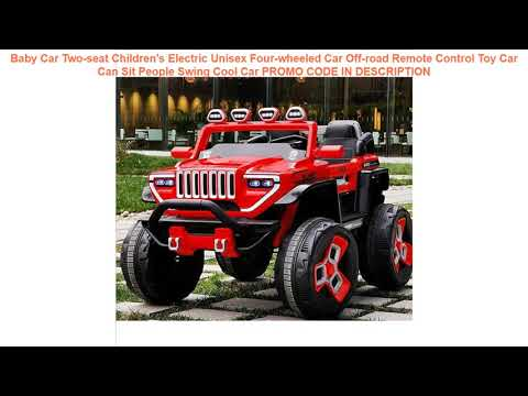 Review Baby Car Two-seat Children's Electric Unisex Four-wheeled Car Off-road Remote Control Toy Ca