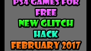 NEW Updated ps4 Hack Free Games [ NEW 2017 METHOD ] PSN March April 2017
