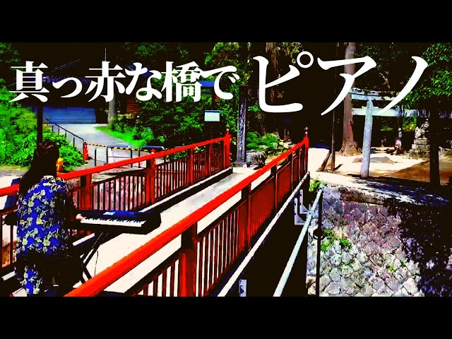 【絶景×ピアノ】Japanese Beautiful scene drawing pianist Vol.25 山地真美 【不動院岩屋堂】風景秀麗的日本和鋼琴音樂