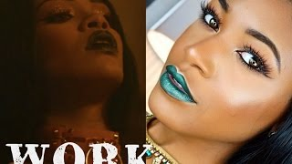 Download Video RIHANNA - Work (Explicit) ft. Drake Official Music Video Makeup | Beauty With Vee ♡ MP3 3GP MP4