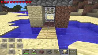 Minecraft PE:  Let's Play Part 12 Making a Time Machine!