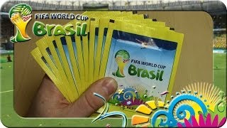 Panini Fifa World Cup Brasil 2014 Sticker 10 Päckchen Unboxing