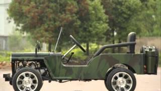 Детский автомобиль с бензиновым двигателем mini jeep Willys