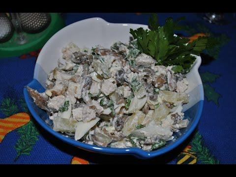 Салат свинина огурцы маринованные