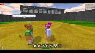 Talk show on roblox with AlexD422