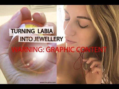 Brett 'Bside' Matthews - Model Turns Her Labia Into A Necklace