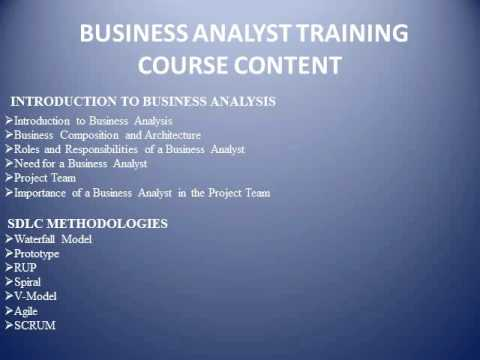BUSINESS ANALYST ONLINE TRAINING - GLOBAL ONLINE TRAININGS
