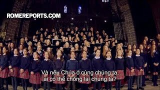500 em thiếu nhi hát tặng sinh nhật lần thứ 80 của Đức Giáo Hoàng Phanxico