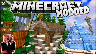 I Found an *ICE CASTLE* in Minecraft Modded Survival!