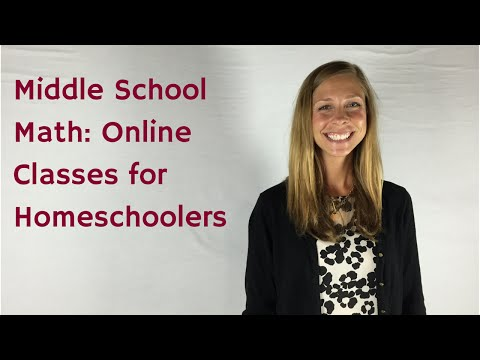 Homeschool Middle School Math Online Classes