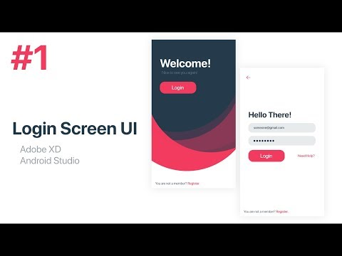 Login Screen UI Design - Adobe XD To Android Studio XML | Part 1