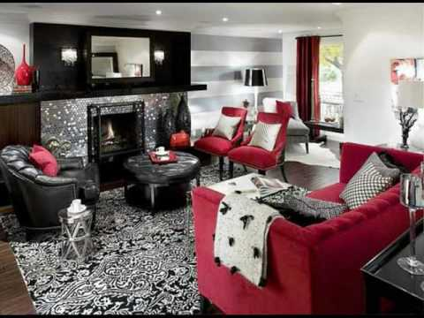Black and Red Living Room Design