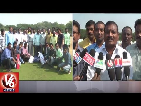 Visakha Charitable Trust Distributes Cricket Kits In Mancherial District | V6 News